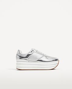 zara shoes silver