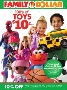 Family Dollar Holiday Toy Book for 2012