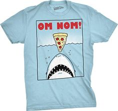 Crazy Dog Tshirts Mens Om Nom Pizza Shark Funny Vintage Ocean Shark Attack (Light Blue) -M No description (Barcode EAN = 0643131057606). http://www.comparestoreprices.co.uk/december-2016-5/crazy-dog-tshirts-mens-om-nom-pizza-shark-funny-vintage-ocean-shark-attack-light-blue--m.asp