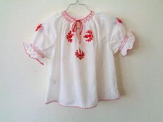 Hungarian blouse peasant blouse embroidered blouse