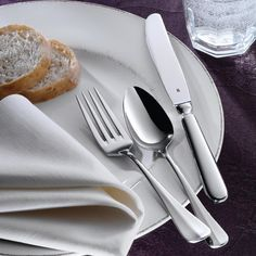 The Baguette flatware collection from #WMF USA Hotel is a perfect match for all tabletops.