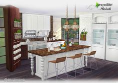 Sims 4 CC's - The Best: Hacienda Kitchen by SIMcredible