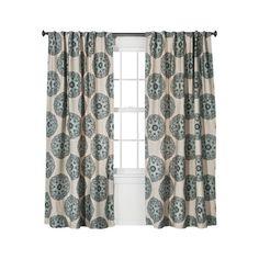 Threshold Medallion Curtain Panel ($25) via Polyvore featuring home, home decor, window treatments, curtains, medallion curtain panels, threshold window panel and medallion curtains