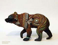 Bear Totem  Made by Dan Karhu #shaman #bear #handmade #velvetclay #totembykarhu #etsy #buyonline #craft