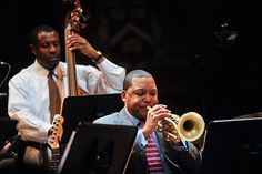 Wynton Marsalis, the legendary musician and artistic director of jazz at Lincoln Center, in his combination performance and lecture at Harvard Monday evening. Jazz At Lincoln Center, Contemporary Jazz, Jazz Artists, Music Education, Harvard, Musicians, American, Music Ed, Music Lessons