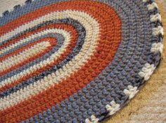 Oval Crochet Rug