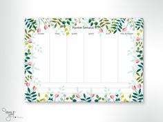 Planner Semanal A4 - bloco ilustrado com 25 folhas