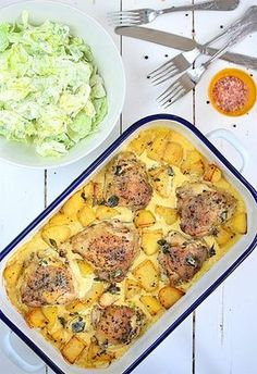 Kurczak pieczony z ziemniakami w sosie śmietankowo-musztardowym B Food, Food Porn, Good Food, Kitchen Recipes, Cooking Recipes, Healthy Recipes, Special Recipes, Easy Chicken Recipes, Food Inspiration