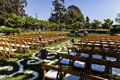 A lovely day for a wedding at Cornerstone Sonoma. Outdoor wedding on the garden lawn with white flowers.  #gardenwedding