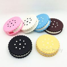3,07 $ 1 Pc Biscuit Padrão Lentes Desenhos animados portátil lentes de contato…