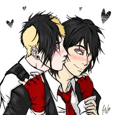 ((Open Ferard RP. Choose Gerard or Frank.)) I blushed as he kissed me again. We were hiding in an unused classroom upstairs. I wasn't ready to be public, especially with all the a-sholes that go here.