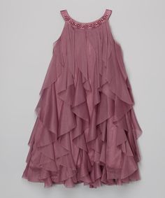 Look what I found on #zulily! Kid's Dream Rose Waterfall Dress - Toddler & Girls by Kid's Dream #zulilyfinds