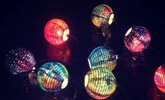 Galaxy paper lanterns by OwnTheSkyART on Etsy