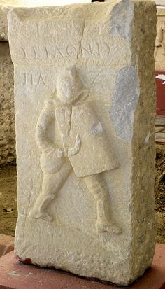 Funerary relief for a gladiator named Seilonis. Museum of Ephesus, Turkey.