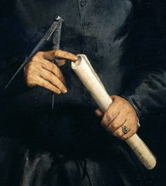 Lorenzo Lotto (c.1480-1557) - Portrait of an architect