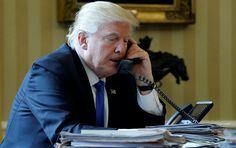 """Die """"Bild""""-Zeitung hat Aufnahmen aus dem Weißen Haus während der Telefongespräche des US-Präsidenten Donald Trump mit dem russischen Staatschef Wladimir Putin und der deutschen Kanzlerin Angela Merkel verglichen. Was steckt hinter den Bildern?"""
