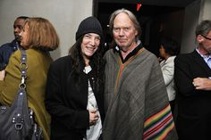 Patti Smith and Neil Young at BookExpo America, June 2012.