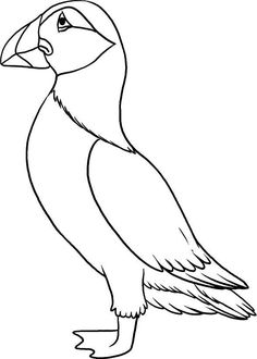 line drawing of a puffin Animal Coloring Pages, Easy Disney Drawings, Outline Pictures, Drawings, Bird Artwork, Bird Drawings, Beach Glass Art, Coloring Pages, Glass Art