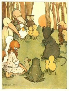 Alice in Wonderland. Illustrated by Mabel Lucie Attwell. London: Raphael Tuck & Sons, 1910. Chapter 3 ~ A Caucus-Race And A Long Tale