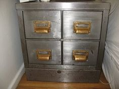 Metal File Cabinets Industrial Office Vintage