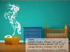 "Fabulous Unicorn Nursery Kids Room Wall Decor $46 24""x48"" (mirrored)"