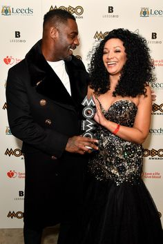 Idris Elba Photos - Idris Elba (L) and founder of MOBO, Kanya King pose in the winners room with the Paving The Way award at the MOBO Awards at First Direct Arena Leeds on November 29, 2017 in Leeds, England. - MOBO Awards - Winners Room