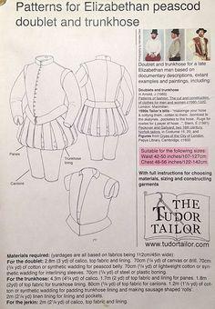 Men's Elizabethan Peascod Doublet and Trunkhose (larger sizes) - Renaissance Fabrics