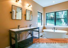 industrial modern vanity unique metal vanity bathroom vanity bathroom renovation