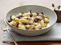 John Besh's Mushroom Saute with Gnocchi and Parmesan