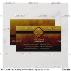 ATTORNEY AT LAW   Professional Elegant Business Card