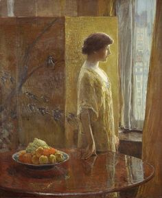 The East Window ~ Frederick Childe Hassam ~ (American: 1859-1935)