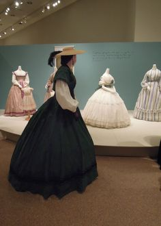 A collaborative event with the Kent Historical Society brought re-enactors to the exhibit of Civil War fashions.