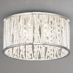 Buy John Lewis Emilia Crystal Drum Flush Ceiling Light from our Ceiling Lighting range at John Lewis. Best Bathroom Lighting, Hallway Lighting, Bedroom Lighting, Home Lighting, Lighting Ideas, Lighting Design, Drum Ceiling Lights, Ceiling Chandelier, Wall Lights