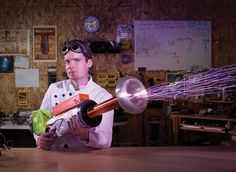 You Built What?!: A Tesla Coil Gun That Produces Foot-Long Sparks  The gun is modeled after a Nerf gun--but with 200,000 volts under the hood