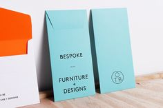 Logo and pastel coloured envelopes created by Coast for furniture design and manufacturing workshop One To Be.