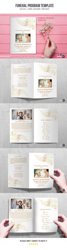 Crimson Gold plus Black Anniversary Program Template Program - event program template