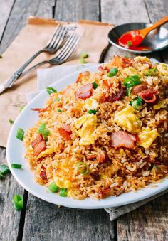 Bacon and Egg Fried Rice, by thewoksoflife.com