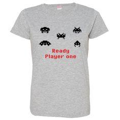 Espacio invasores inspirado camiseta para las mujeres - 4 colores - regalo para los jugadores - Arcade Retro - años 1980