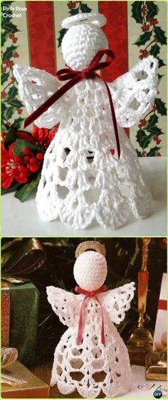 Crochet Shelf Christmas AngelFree Pattern - Crochet Angel Free Patterns