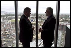 Great view of Dublin. Joe Aherne, CPA Ireland President and John Herlihy, VP Google Ireland at Google HQ. Great View, Dublin, Presidents, Ireland, Google, Face, Photos, Pictures, The Face