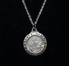 Sterling Silver NecklaceW/SterlingSilver St. Elizabeth pendant KA26  Starting bid:    US $12.00