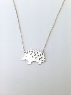 Darling Hedgehog Pendant Sustainable Sterling by TheSilverMoose