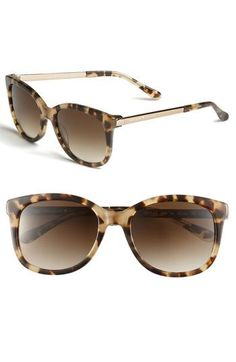 kate spade new york 'gayla' oversized sunglasses in tortoise
