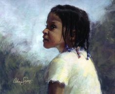 Jessie's Braids, Pastel, 16 x 20   by Chris Saper