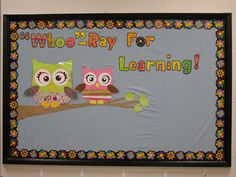 Owl bulletin board and decorating ideas for classroom.