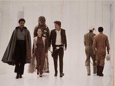 Lando, Princesse Leia, Chewbacca & Han Solo, Star Wars, épisode IV