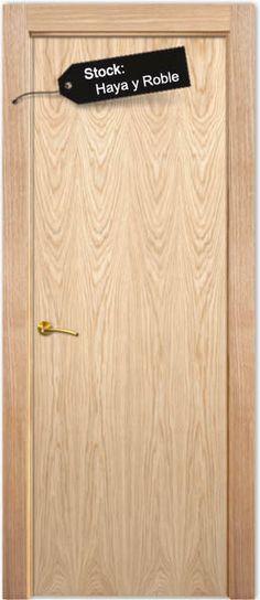 MODELO L1: modelo liso de puerta en BLOCK maciza (el block incluye Puerta, cerco de 70X30mm, 5 tiras de tapajutas de 70x10, pernios y resbalón. Todo montado y embalado), rechapada en madera natural y barnizada, lista para colocar.