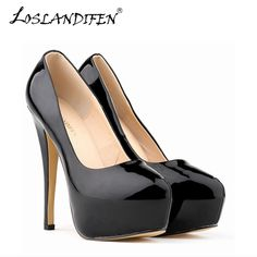 Women Pumps New Brand PU Leather Platfrom High Heels Women s Shoes  Nightclub Sexy Pumps women shoes Fashion High-heeled -- This is an  AliExpress affiliate ... 1a4837682bb6