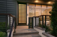 db-a802 Aurora fiberglass doors are made to look and feel like solid wood, without any of the maintenance. Craftsman style door shown is displayed with two full glass sidelights, and decorative glass.