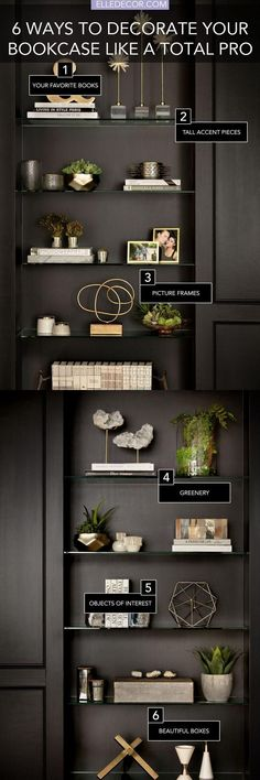 6 secrets to a perfectly styled bookcase - How To Decorate Bookshelves
